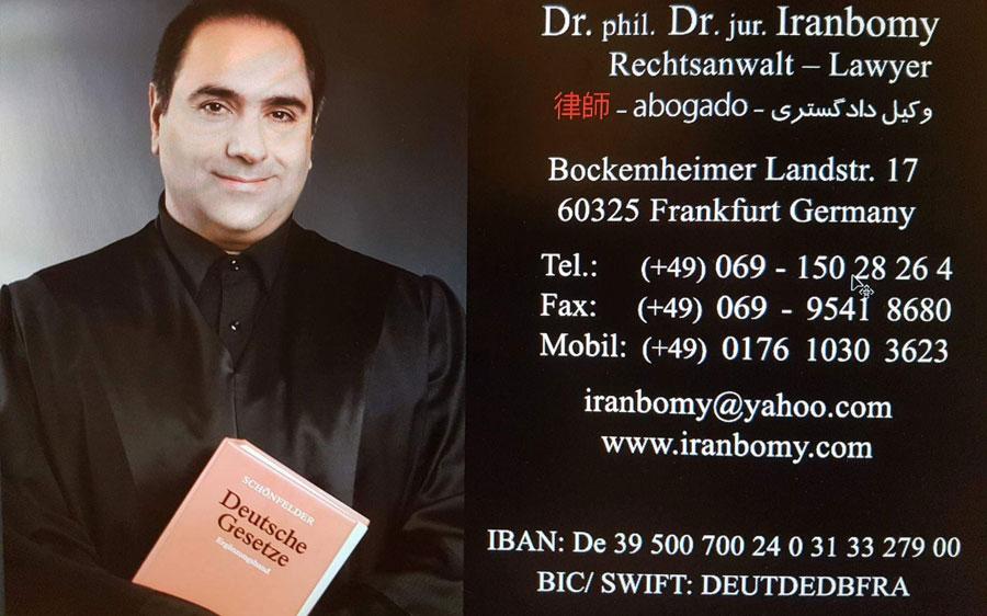 iranbomy rechtsanwalt frankfurt