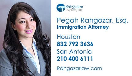 Pegah Rahgozar Esq Top Immigration Attorney Texas پگاه رهگذر